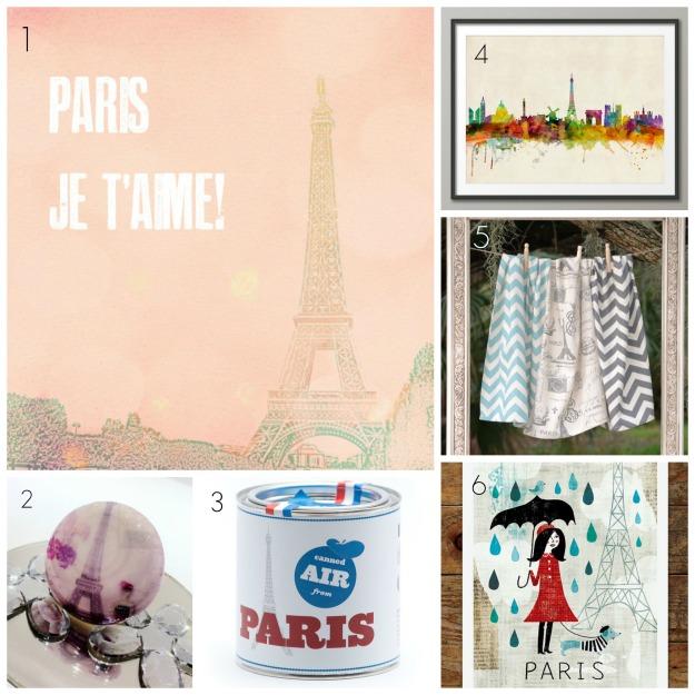 Paris Etsy Collage