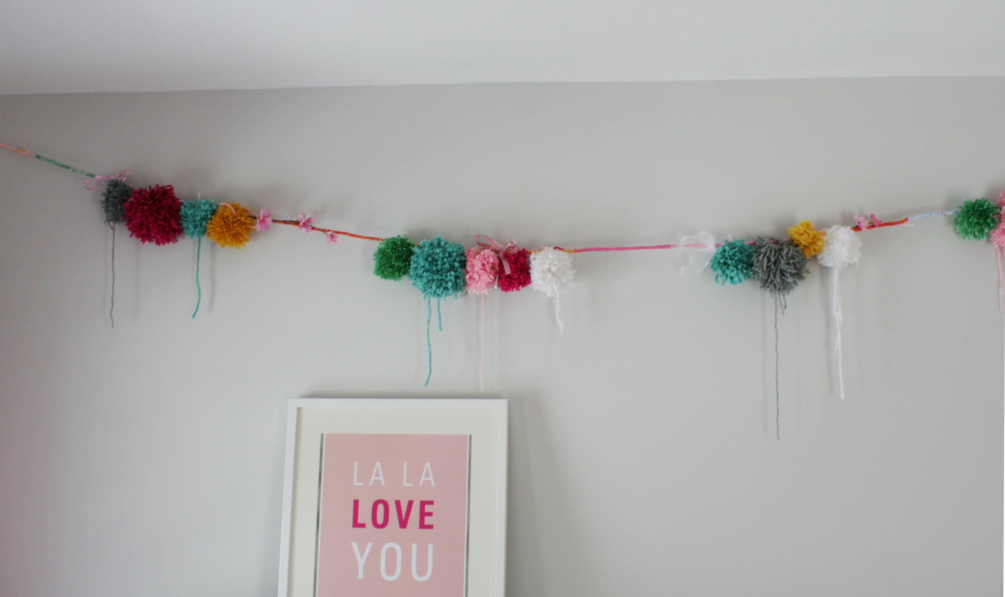 Pom Pom palooza A DIY Pom Pom Garland The Potato House
