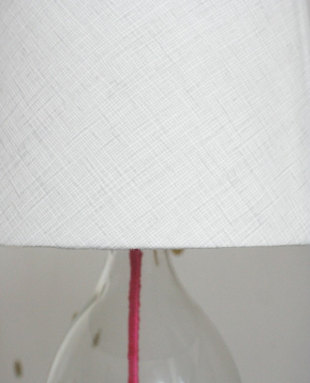 Bran lamp diy shade closeup