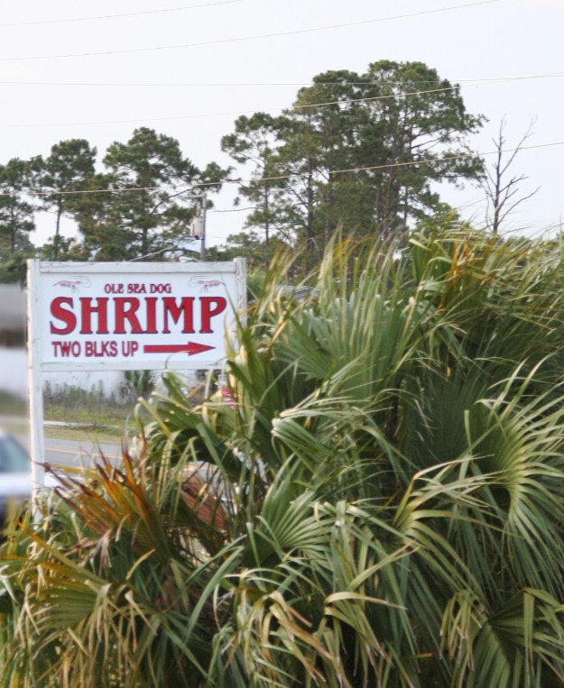 port st joe shrimp sign