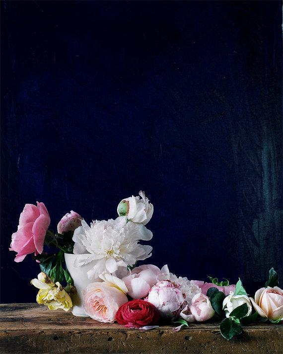 dark floral etsy print