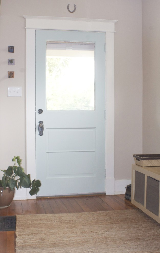 front door paint after shot