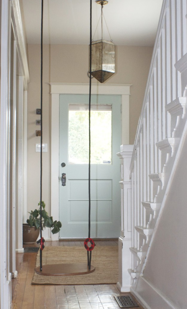 painted front door swing inside