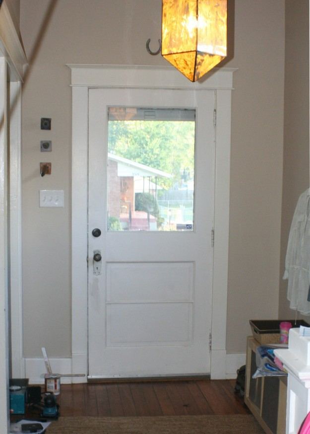 Painting front door before picture