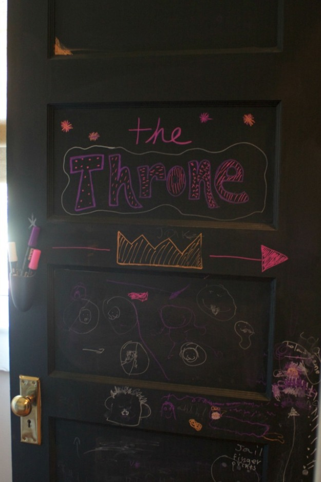 chalkboard painted door