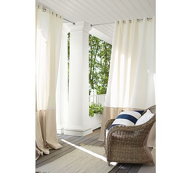 drop cloth curtains pottery barn